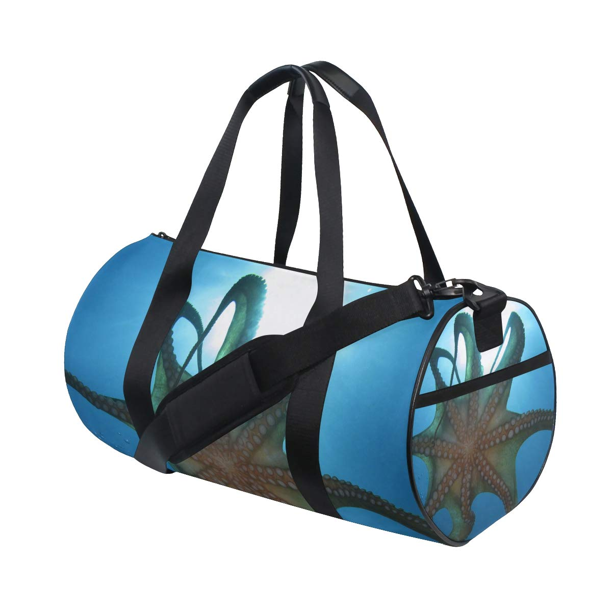 Octopus Yoga Sports Gym Duffle Bags Tote Sling Travel Bag Patterned Canvas with Pocket and Zipper For Men Women Bag