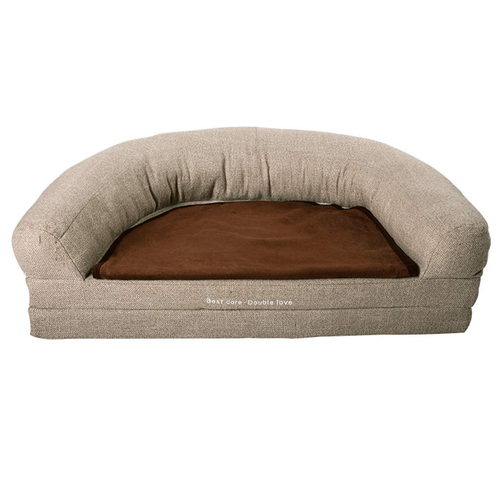 A SDog Bed MultiFunction Folding Design Four Seasons Dog Bed Teddy Small and Medium Dog Pet Dog Dog Sofa Predect The Spine (color   A, Size   S)