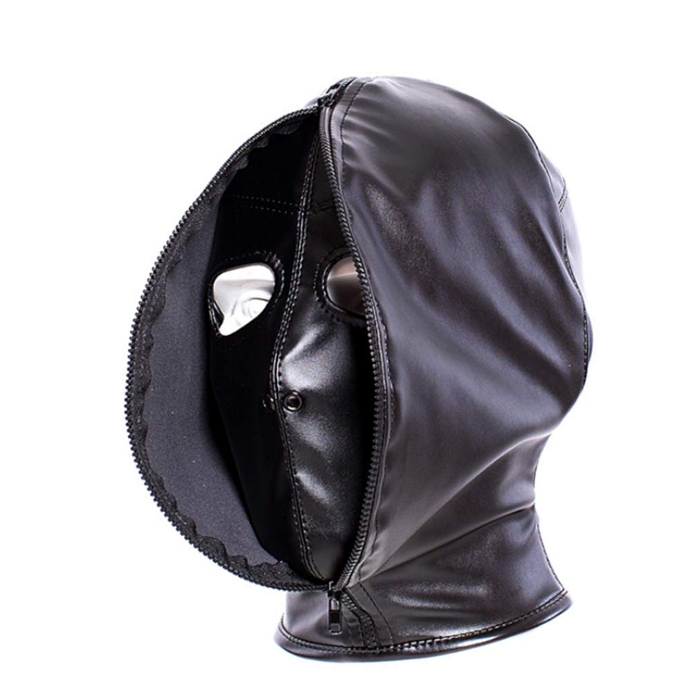 YEZHIMEIMIAO Black Leather Thickening Strengthen Fully Enclosed Fun Mask Horse-Style Leather Flirt Sex-Toy by YEZHIMEIMIAO