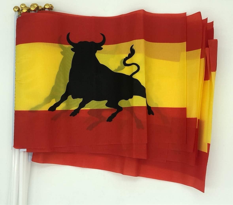 Durabol 12PCS Bandera de Mano de Toro Comunidades autónomas de España (20X30CM) (Toro): Amazon.es: Jardín