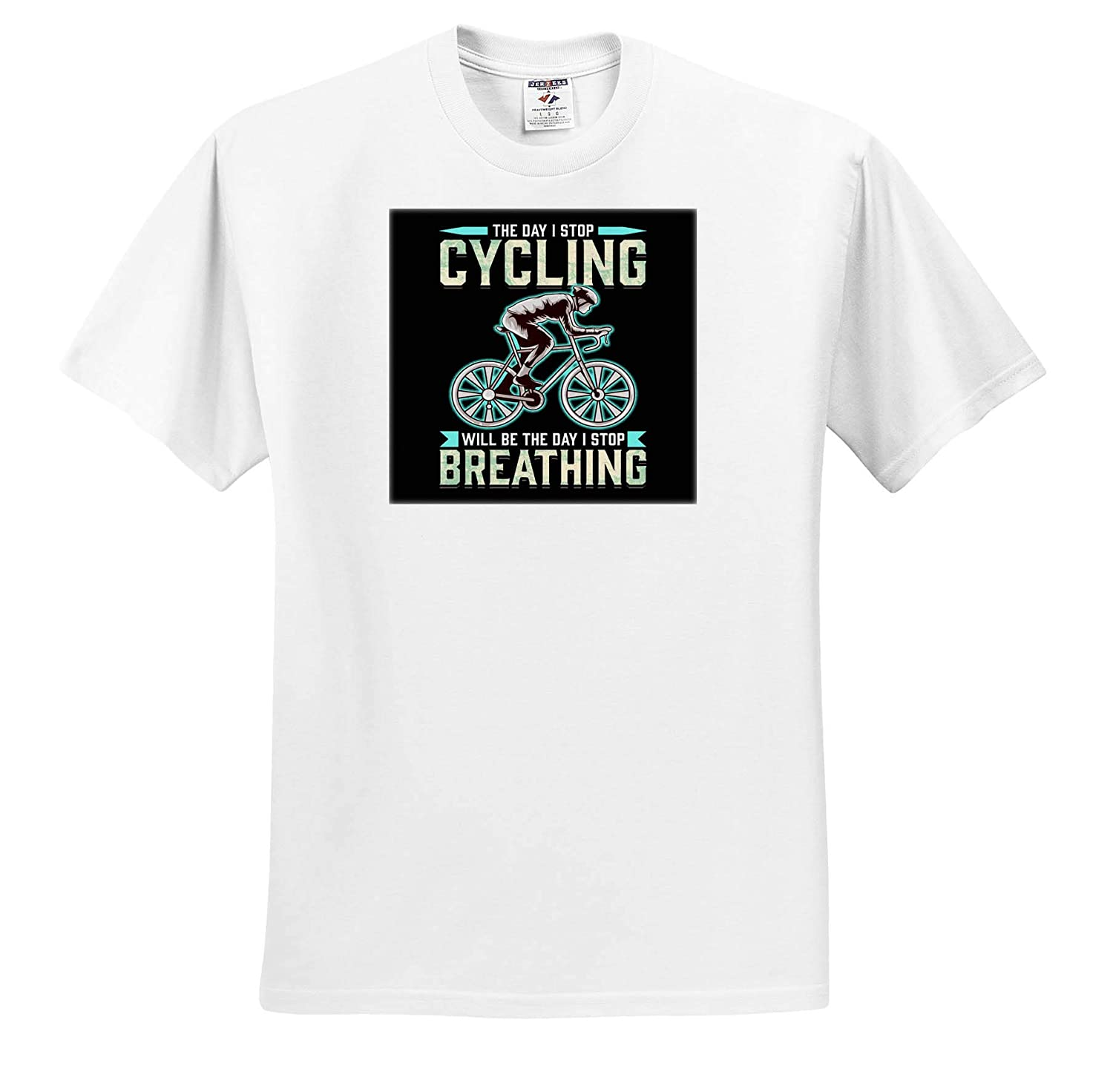 The Day i Stop Cycling Will Be The Day I Stop Breathing Adult T-Shirt XL ts/_314120 3dRose Sven Herkenrath Sport