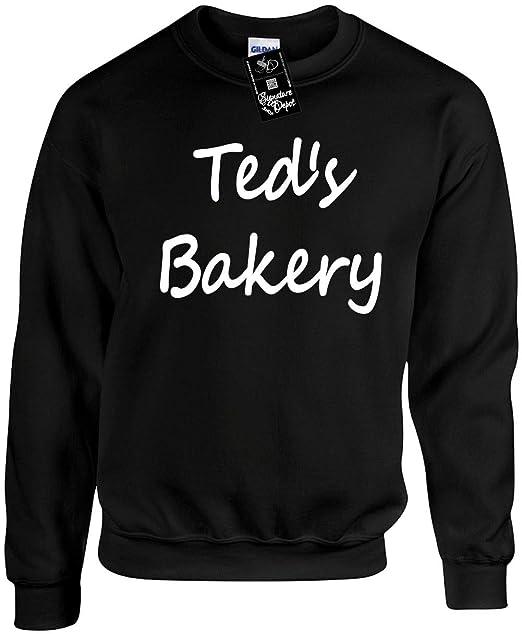 f3839affc9fc Amazon.com  Unisex Adult Crewneck (Ted s Bakery (Baker