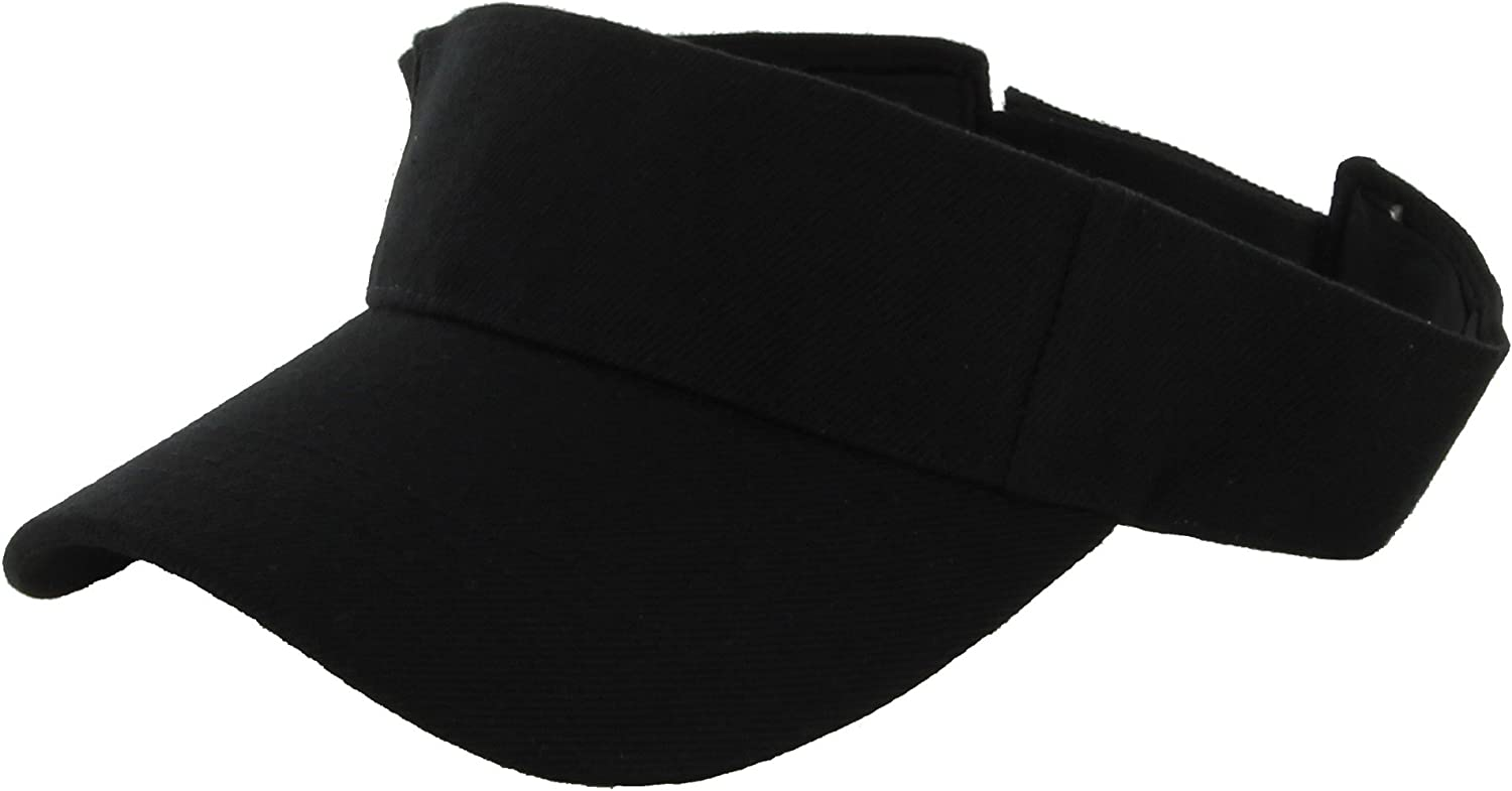 DealStock Plain Men Women Sport Sun Visor One Size Adjustable Cap (29+ Colors)