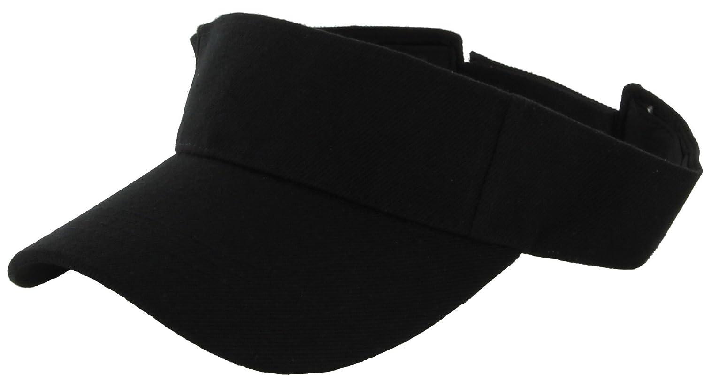 a1816c010ea48 DealStock Plain Men Women Sport Sun Visor One Size Adjustable Cap (29+  Colors) (Black) at Amazon Women s Clothing store