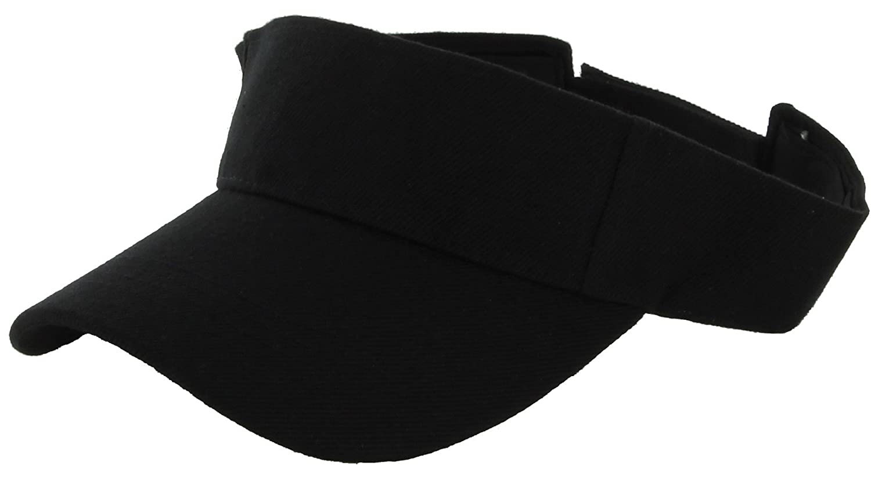 7200c28cf56be DealStock Plain Men Women Sport Sun Visor One Size Adjustable Cap (29+  Colors) (Black) at Amazon Women s Clothing store