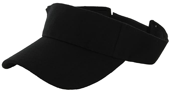 01bf2433 DealStock Plain Men Women Sport Sun Visor One Size Adjustable Cap (29+  Colors)