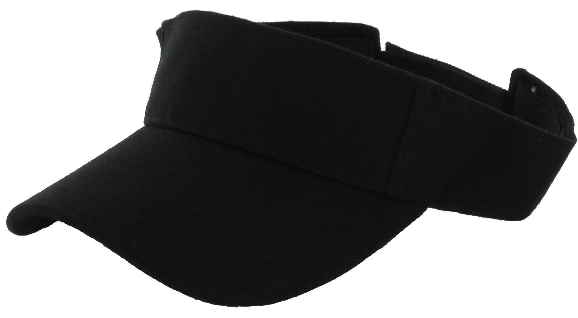 DealStock Plain Men Women Sport Sun Visor One Size Adjustable Cap (29+ Colors)