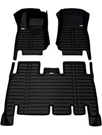 TuxMat Custom Car Floor Mats for Tesla Model X 5-Seater 2016-2020 Models- Laser Measured, Largest Coverage, Waterproof...