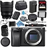 Sony Alpha a6300 Mirrorless Digital Camera (Black) ILCE6300/B + Sony FE 12-24mm f/4 G Lens SEL1224G + NP-FW50 Replacement Lithium Ion Battery + External Rapid Charger Bundle