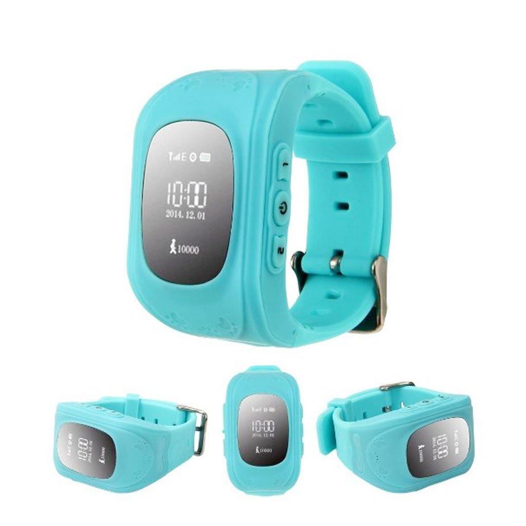 Q50 Smartwatches Reloj Infantil Pulsera Inteligente GPS / LBS Localizador Alarma para Seguridad de Niños - Azul: Amazon.es: Juguetes y juegos