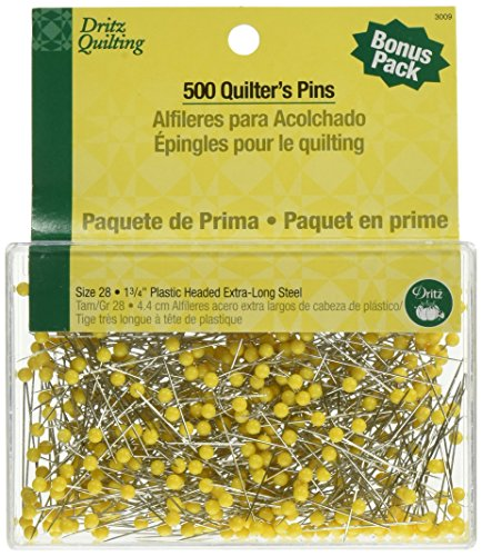 Dritz 3009 Quilting Pins, 1-3/4-Inch, Yellow - Quilting Pins Yellow