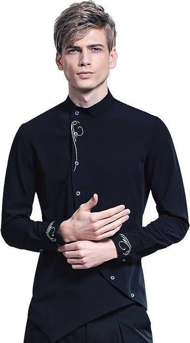 FANZHUAN Camisas Hombre Manga Larga Marca Vestir Moda Boda Fiesta Slim Fit: Amazon.es: Ropa y accesorios