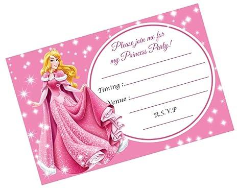 Partystuff Princess Theme Cards Princess Party Invitation