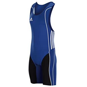 79ebeab4000e adidas Performance Mens W8 Lifter Weightlifting Suit Singlet - Blue - XS