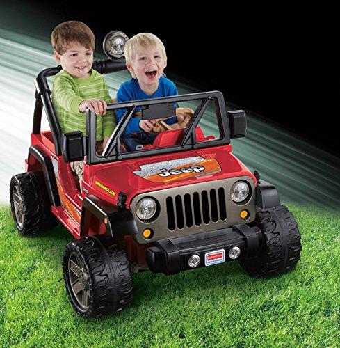 61jHE9EIEoL - Power Wheels Jeep Wrangler, Red