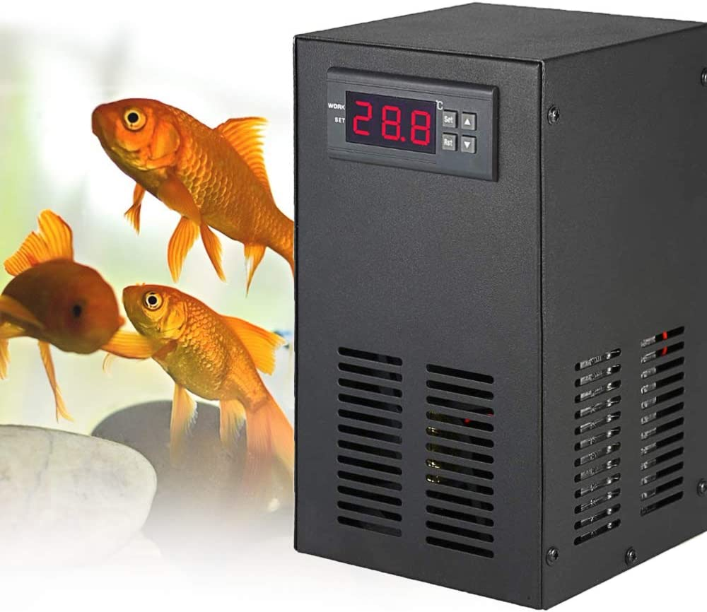 Aquarium Water Chiller&Heater 9Gal Fish Tank Cooling&Heating System 20-30℃ for Water Grass/Crystal/Shrimp/Jellyfish/Coral (9Gal/35L, 20-30℃)