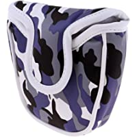 Homyl Waterproof Golf Mallet Putter Cover Headcover Camouflage Pattern Head Cover with Magnetic Closure - 2 Colors - Blue