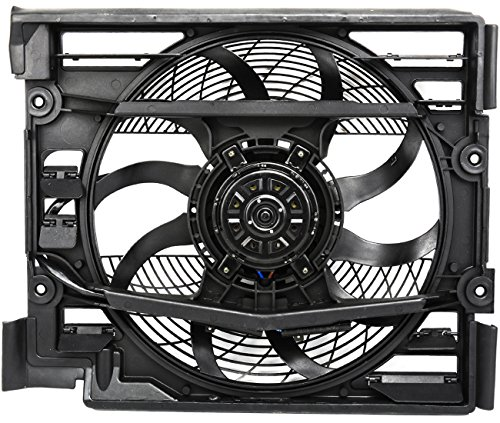 TOPAZ 64548380780 Condenser Cooling Fan Assembly for BMW E39 528i 540i 1997-1998