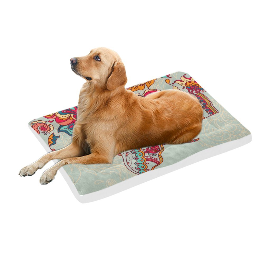 42\ your-fantasia Indian Elephant Beautiful Paisley Pet Bed Dog Bed Pet Pad 42 x 26 inches