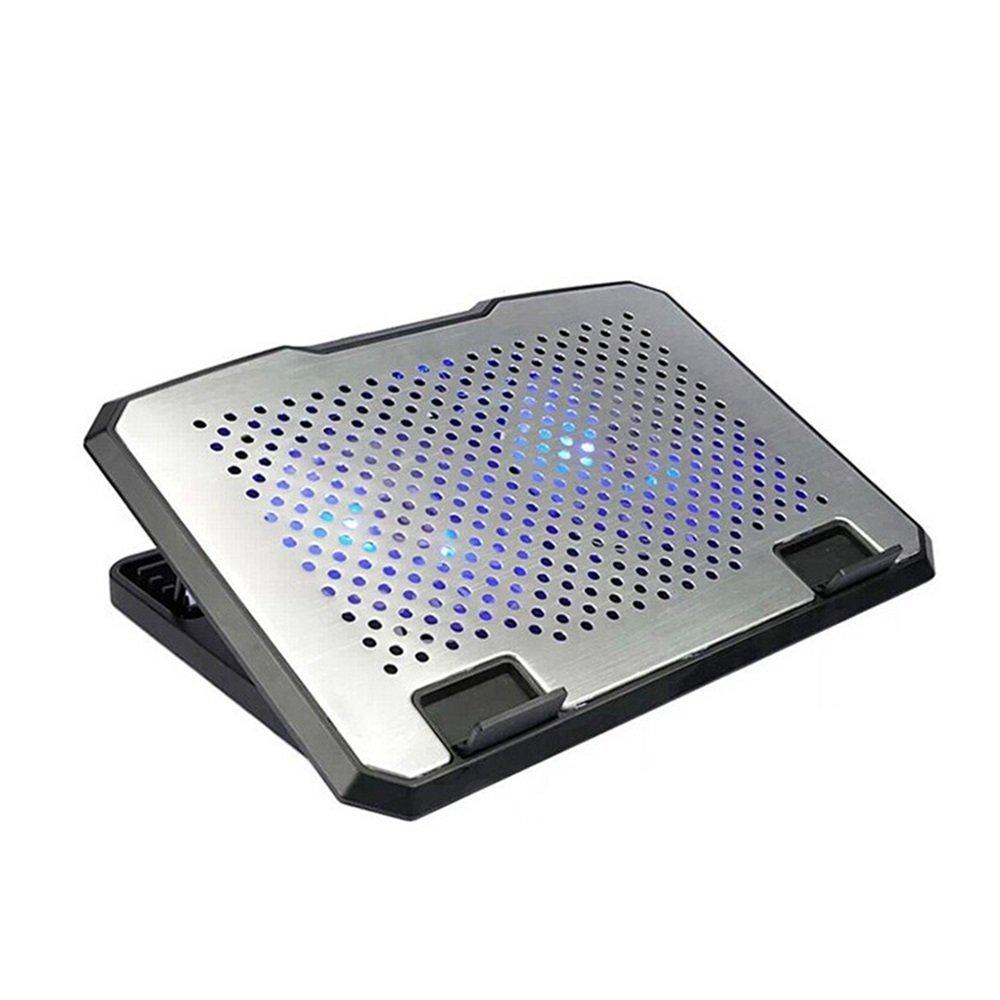 Lifting Type 2 Fan Cooling Base Multi-angle Adjustment Aluminum Laptop Heatsink by YuFLangel