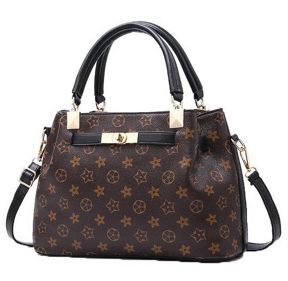 Black AmoonyFashion Women's Fashion Zippers Pu Tote Bags Crossbody Bags,BUTBS182516