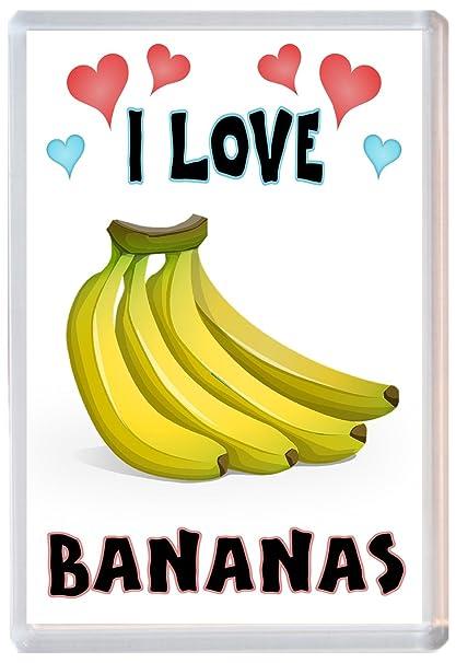 I Love Bananas/Plátanos - Jumbo imán para nevera regalo presente ...