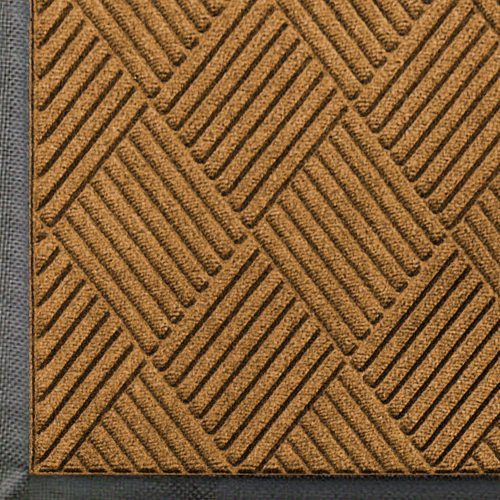 Entrance Matting - WaterHog Diamond | Commercial-Grade Entrance Mat with Rubber Border - Indoor/Outdoor, Quick Drying, Stain Resistant Door Mat (Gold, 4' x 6')