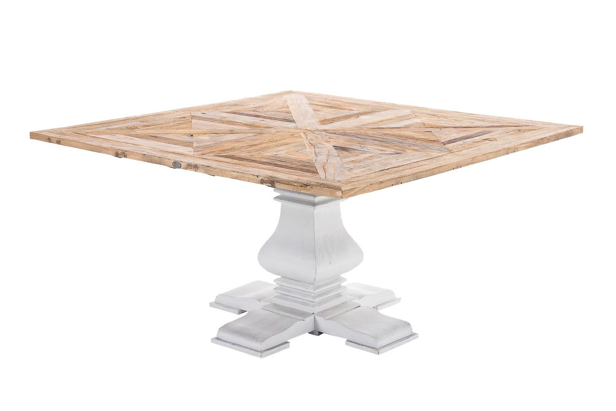 Luxus Esstisch CP582, Esszimmertisch Tisch, Handarbeit, recyceltes Ulmenholz ~ 100x100cm