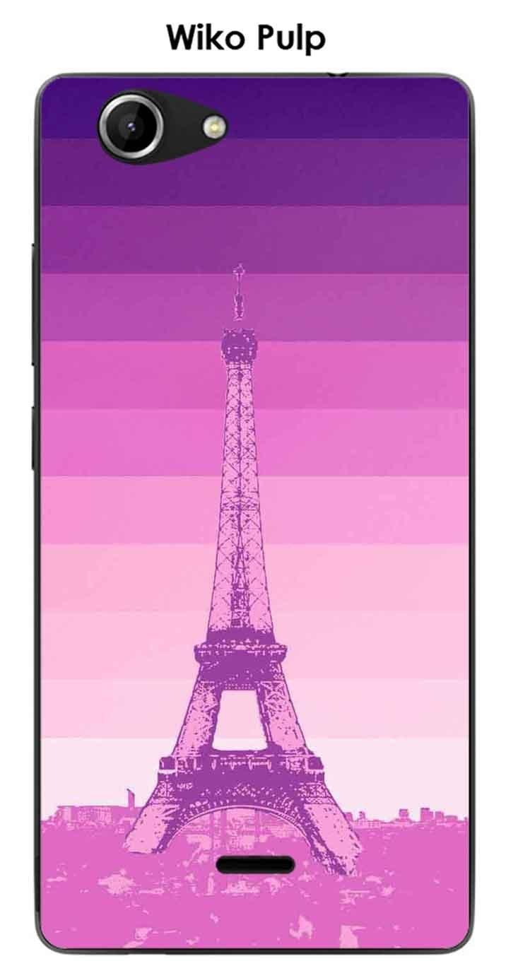 Onozo Carcasa Wiko Pulp Design Paris Torre y fondo Degrade ...