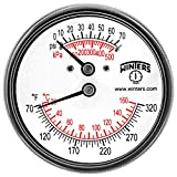 Winters Instruments TTD404 Steel Dual Scale Tridicator Thermometer