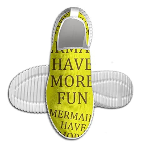 Mermaids Have More Fun Men Slip-On Loafers Fashion Mesh Running Shoes