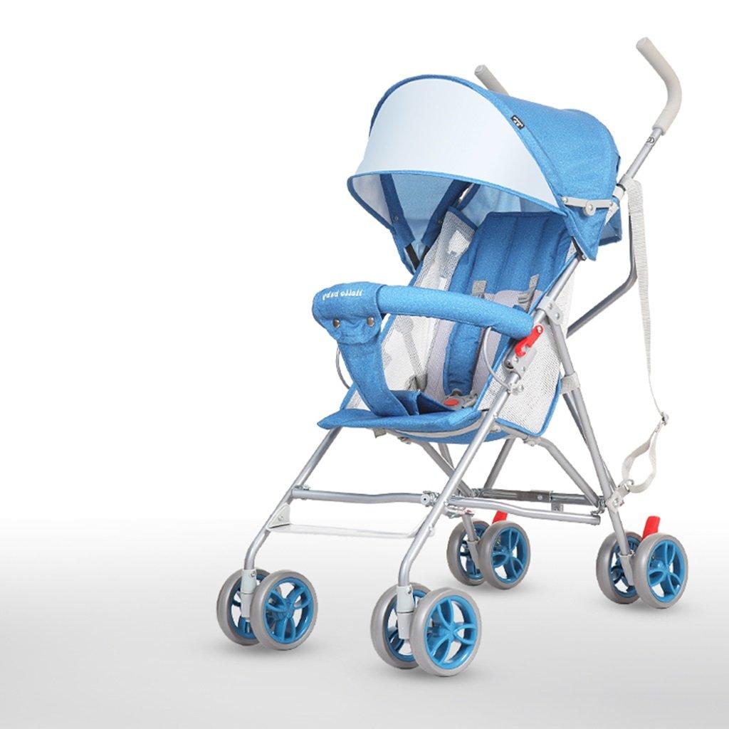 HAIZHEN マウンテンバイク ベビーカート軽量椅子/ハーフライサンシェードサンプロテクションアンチUVメッシュクッショントロリー折りたたみ可能EVA衝撃吸収タイヤ46 * 63 * 94cm 新生児 B07DL8GRB4 2 2