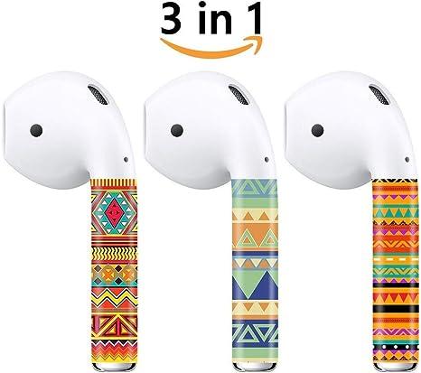 Airpods carcasa protectora Carcasa de silicona y Skin para Apple Airpods estuche de carga (Pack de 4): Amazon.es: Electrónica