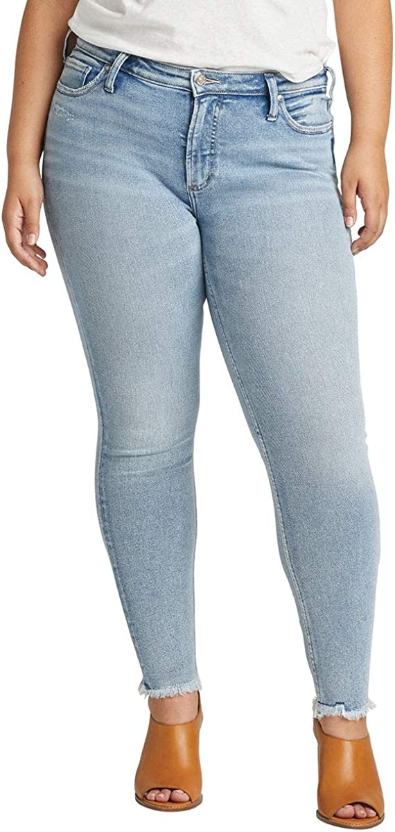 Silver Jeans Co. Women's Plus Virginia Beach Mall Size Rise Mid Wanted Most overseas F Skinny