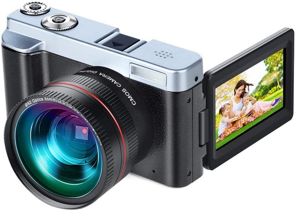 Amazon Com Video Camera Camcorder Diwuer Wifi Digital Camera Recorder 24 0mp Full Hd 1080p Flip Screen Vlogging Camera With Uv Lens Flashlight Two Batteries And Tf Card Camera Photo