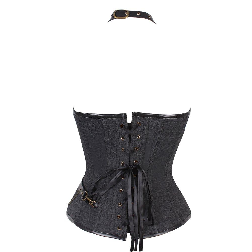 d9022a1465a1 Corsetto da Donna Broccato con Stecche in Acciaio Stile Vintage Steampunk da  guerriera Bustini e corsetti FeelinGirl ...
