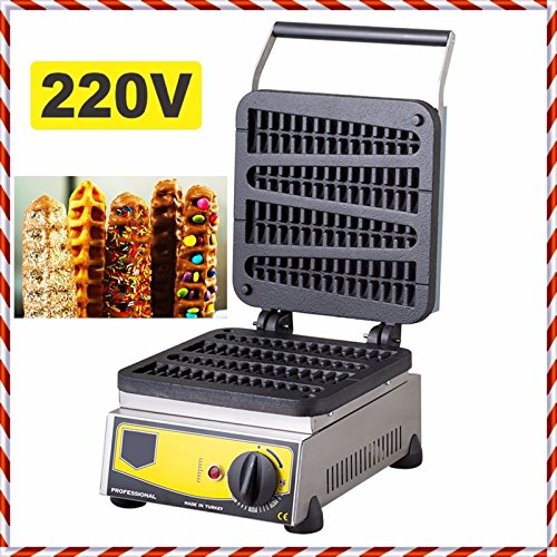 220V Non-Stick TEFLON COATED Electric Commercial Lolly Waffle Sausage Toaster Stick Baker Maker Baking System Machine