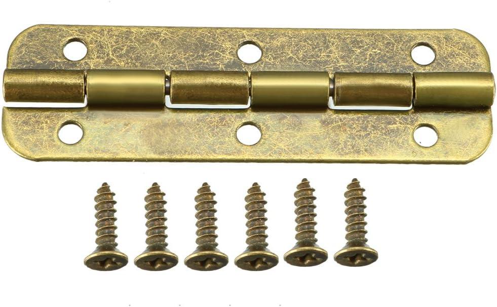 Antique Bronze uxcell Antik Bronze Butt Scharniere Retro Mini Scharnier Ersatz mit Schraube 1.6 * 1.46 8pcs L*W