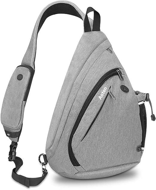 Sling Chest Bag Shoulder Crossbody Backpack Messenger Bags Water Bottle Holder