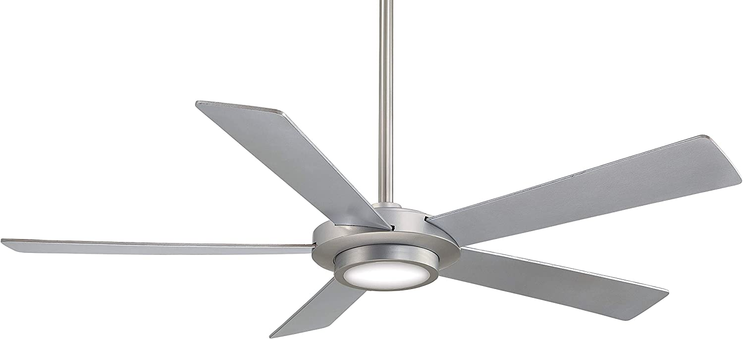 Minka-Aire F745-BN Sabot 52 Inch Ceiling Fan with Integrated LED Light and DC Motor in Brushed Nickel Finish