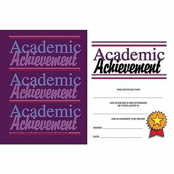 amazon com academic achievement mini certificate matte paper