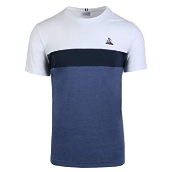 Le Coq Sportif Tri Saison tee SS N°1 M Bleu Clair St/D. Camiseta ...