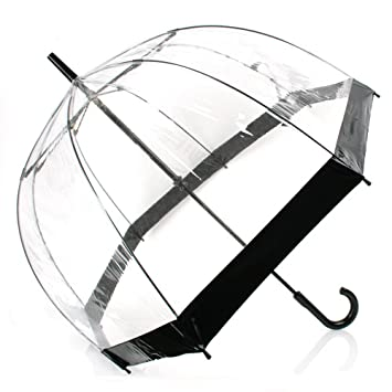 0638dcfb4141 DOME SEE THRU WEDDING UMBRELLA CLEAR WITH BLACK TRIM & HANDLE & DEEPEST  DOME FOR PROTECTION.