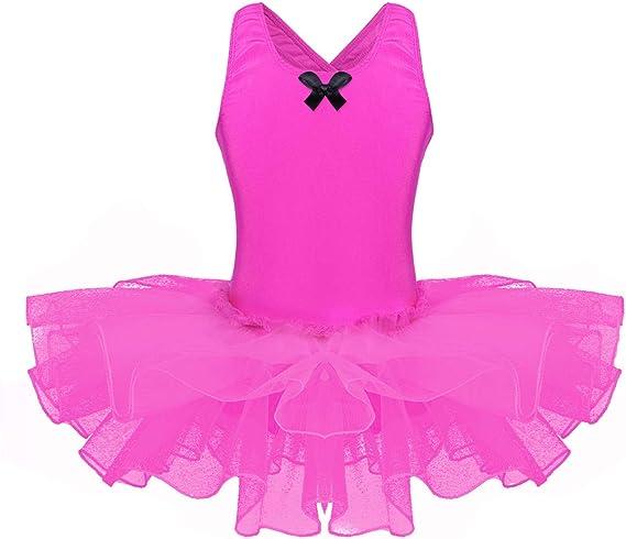 iiniim Maillot Ballet Niña Vestido de Danza Baile Gimnasia Tutú ...