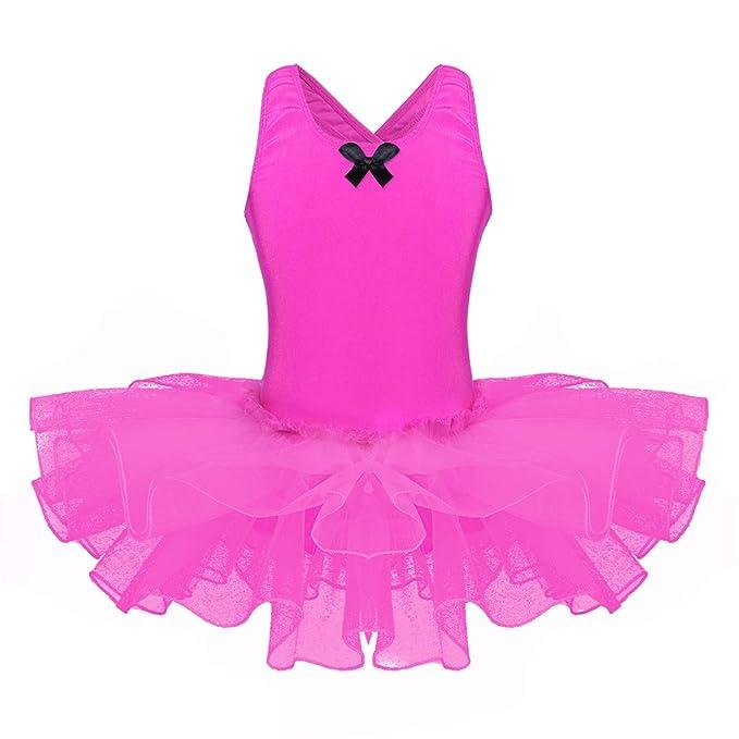 iiniim Maillot Ballet Niña Vestido de Danza Baile Gimnasia ...