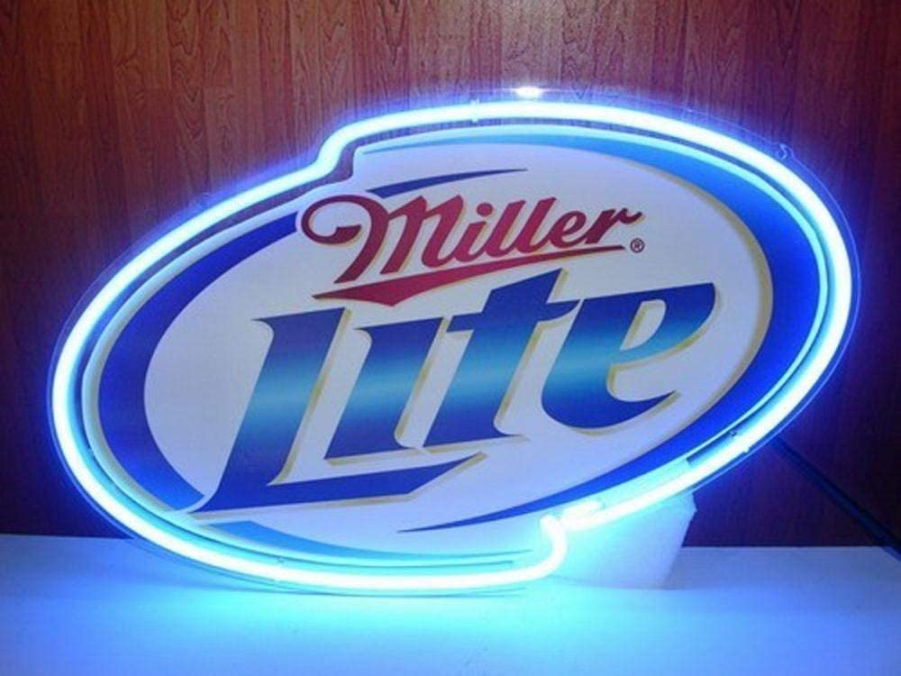 "New Miller Lite Beer Neon Light Sign 17/""x14/"" Man Cave Lamp Artwork Glass Gift"