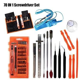 Augneveres 70pcs Kit de Herramientas de reparación, Destornillador ...