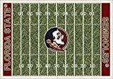Milliken 4000018747 Florida State College Home Field Area Rug, 10'9'' x 13'2'', 01514 Home Field