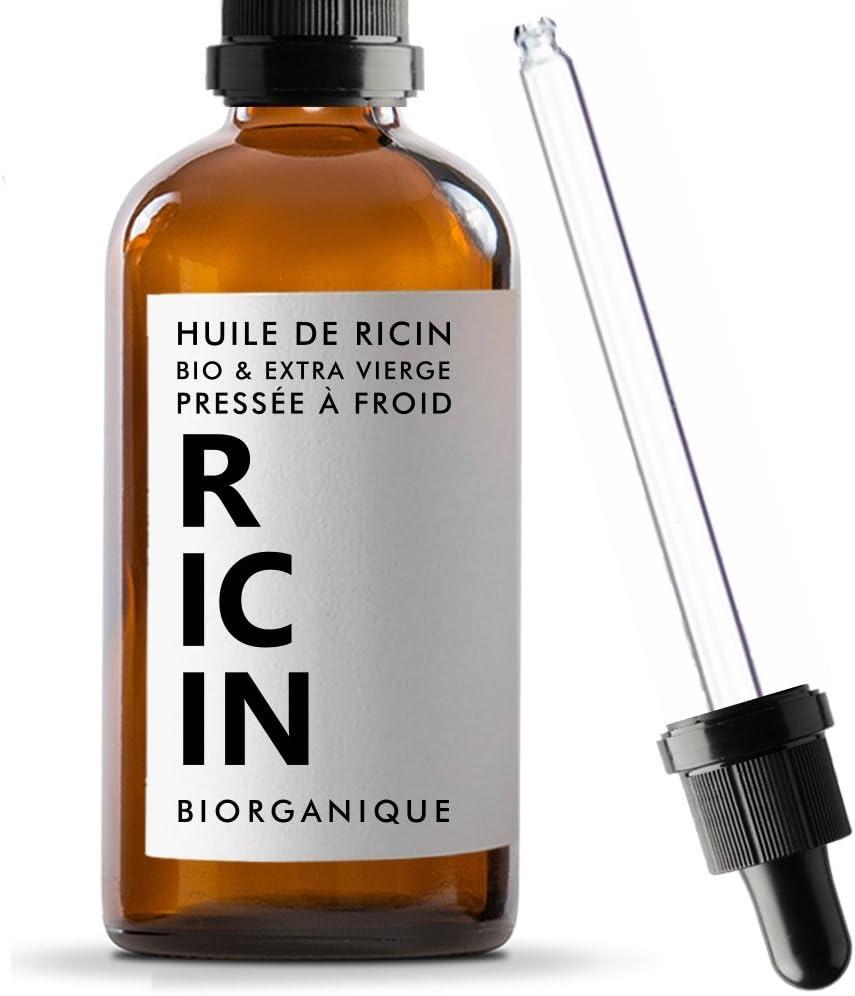 Aceite de ricino, 100% ecológico, puro y natural,100ml,para el cuidado de cabello, pestañas, uñas, piel
