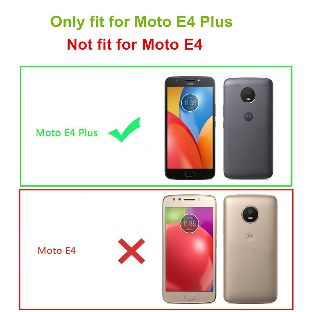 Moto E4 Plus Screen Protector, NOKEA Tempered Glass with [9H Hardness] [Crystal Clear] [Easy Bubble-Free Installation] [Scratch Resist] for Motorola Moto E4 Plus 2017 Released (1 Pack) by NOKEA (Image #2)